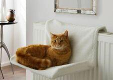 Luxury Cream Comfy Radiator Cat Kitten Bed Warm Heated Basket Snug Hammock Pet