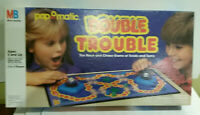 Double Trouble popomatic race chase board game twists turns Milton Bradley 1987