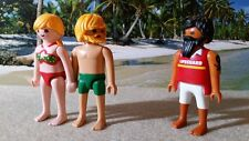 PLAYMOBIL ADULTE COUPLE BEAR OURS PLAGE CRUISING PRIDE ORGULLO GAY HOMO LGBT