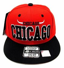 CHICAGO City Snapback Cap Hat Bull Horn Jordan Pippen Rodman LEADER OSFM NWT