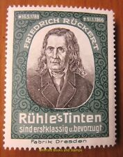 Cinderella/Poster Stamp Germany 1900s Rühle's Tinten - Rückert  - 268