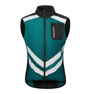 Mens Cycling Gilet  Windproof Cycling Jacket Breathable Gilet Quick Dry Vest