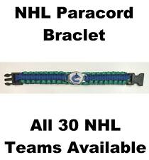 "(HCW) Vancouver Canucks NHL Hockey Logo Paracord 8"" Bracelet - New in Package"