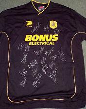 Hull City Black Away Shirt 2003/04 Shirt Signed By 19