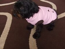 HIGH QUALITY DOG COSTUME QUILTED FLEECY BODY WARMER PINK SIZE L