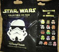 Disney Pins Mystery Character Storm Trooper Helmets Star Wars 5 Pin Sealed