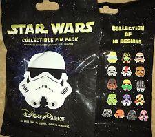 Disney Pins Character Storm Trooper Helmets Star Wars 5 Pin Pack Set
