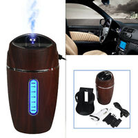 Mini Wooden USB Humidifier Air Purifier Freshener Diffuser For Car Home Office