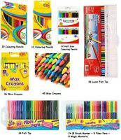 Wax Crayons / Colouring Pencils / Felt Tips / Metallic Markers / Magic Markers