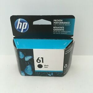 Genuine HP 61 Black Ink Cartridge CH561WN New In Box Expired 4/2017 Free S/H
