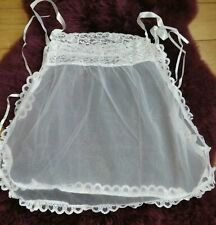 SINNERS - WOMENS WHITE LACE BABY DOLL SET - ONE SIZE