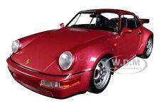 1990 PORSCHE 911 TURBO MET. RED LTD ED 1/18 DIECAST CAR BY MINICHAMPS 155069102
