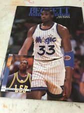 Beckett Basketball Magazine Monthly Price Guide October 1992 Shaquille O'Neal