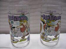 2-Hardees 1991 Flintstones Glass - Little Bamm-Bamm 1964- The First 30 Years