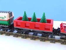 Custom Holiday Christmas Tree Train Car Built w/ New Lego Bricks fits 9V RC IR