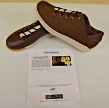 Converse Sample 3hree Brown Leather Shoes sz 14 DWAYNE WADE Personal Owned w COA