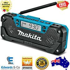 Jobsite Radio Cordless Makita FM/AM Clock Portable Job Site Speaker Worksite 12V
