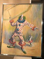 Artist E. SANTIPADRI Clown PAINTING