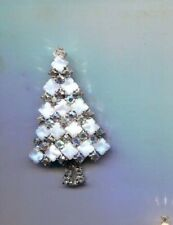 WHITE CHRISTMAS TREE  PRONG SET  PIN