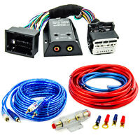 High Low Adapter Endstufe Kabel Set 10mm² für Opel Astra J Chevrolet Aveo Spark