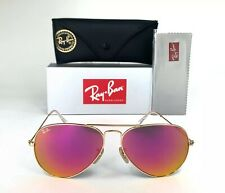 Ray-Ban Aviator Classic RB3025 112/4T GOLD Sunglasses 58mm Mirrored Pink Lens