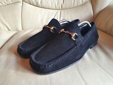Gucci Mens Black Suede Driving Shoes Horsebit Loafers UK  9.5  US 10.5   EU 43.5