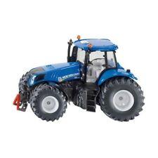 Modellini statici di mezzi agricoli trattori blu scatola chiusi