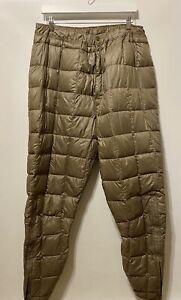 Vintage Eddie Bauer Bauer Down Men's Sz XL Goose Down Pants Quilted Insulated