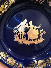 Imperia Limoges Porcelaine 22k Courting Couple Trinket Dish