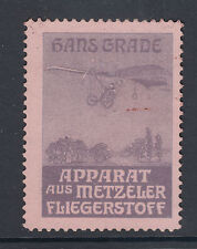 Germany, Hans Grade Aviation Pioneer, Metzeler Flying Machine Poster Stamp