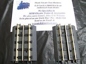 """NEW 2- Pack MTH RealTrax Nickel Silver Rail 4.25"""" Straight Track Section 40-1017"""
