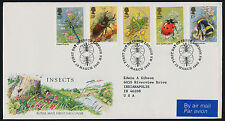Great Britain 1098-1102 on FDC Insects, Flowers - Royal Mail Cover