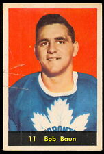 1960 61 PARKHURST HOCKEY 11 BOB BAUN VG TORONTO MAPLE LEAFS FREE SHIP TO USA