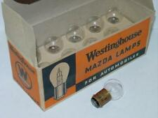 ANTIQUE WESTINGHOUSE MAZDA #1491 AUTO LAMPS - ORIGINAL BX 10 BULBS