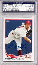 2013 Topps Pro Debut #197 Michael Wacha RC PSA/DNA Signed Auto Cardinals