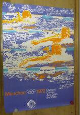 A0 - ORIGINAL Plakat - Olympische Spiele 1972 / Motiv Schwimmen