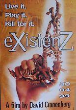 "40x60"" HUGE SUBWAY POSTER~eXistenZ 1999 Movie Jude Law Jennifer Jason Leigh NOS~"