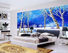 3D Snowy Woods 778 Wallpaper Mural Paper Wall Print Wallpaper Murals UK Kyra