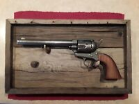 Colt Single Action Army Revolver Genuine Barnboard Display Board/Frame