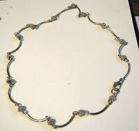 Necklace very pretty silve tone metal linked with gorgeous spacer beads