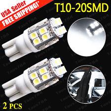 2 X 2016 New Xenon White Wedge T10 20SMD LED Light Bulb W5W 2825 158 192 168 194