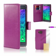 Book Wallet Case Cover For Samsung Galaxy Models + Screen Protector & Stylus