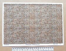 "OO/HO gauge (1:76 scale) ""Random stone"" -  paper- A4 sheet"