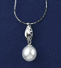 Large fresh water rain drop pearl sterling silver pendant PDT040013