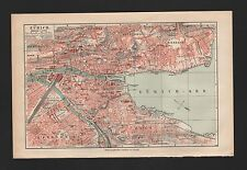 Landkarte city map 1908: Stadtplan ZÜRICH, Massstab: 1 : 17.000