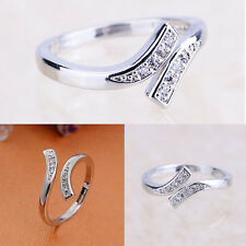 Fashion Sterling Silver Adjustable Toe Ring With Crystal Rhinestones UK