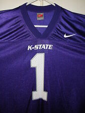 best service e1dd5 5479f NEW NWT NIKE K-STATE KANSAS STATE WILDCATS FOOTBALL JERSEY PURPLE SIZE XL