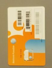 Lot Of 10 At&T 3G/4G/Lte Postpaid/Prepaid Factory Micro Sim Card. Sku 72290