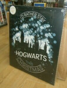 """Harry Potter """"I'd Rather Be At Hogwarts"""" 24 Door Advent Calendar + Door Hanger"""