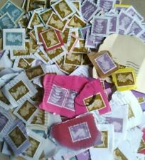 More details for 2000 gold silver purple security franked stamps first class on paper kiloware